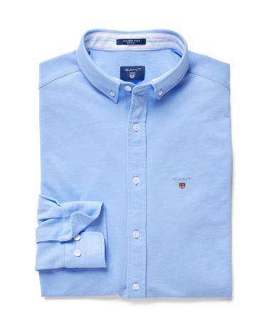 GANT Erkek Açık Mavi Regular Fit Tech Prep Pique Gömlek
