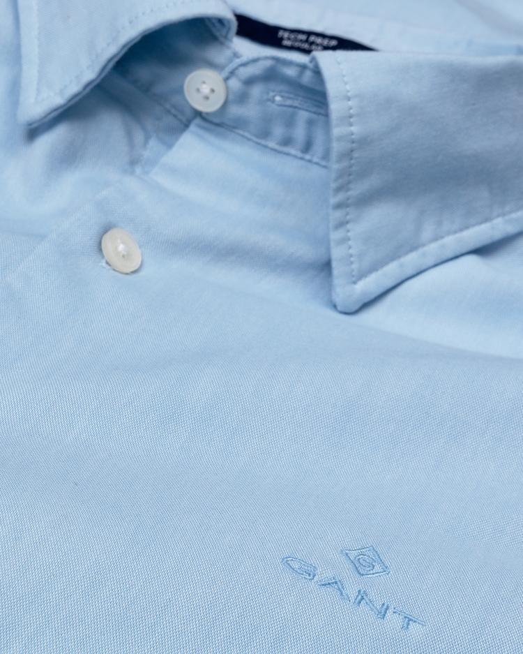 Erkek Tech Prep Mavi Regular Oxford  Gömlek