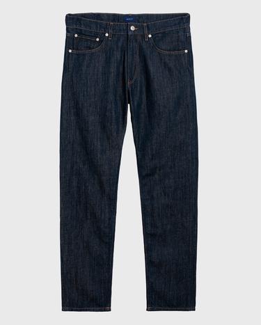 GANT Erkek Lacivert Relaxed Keten Pantolon