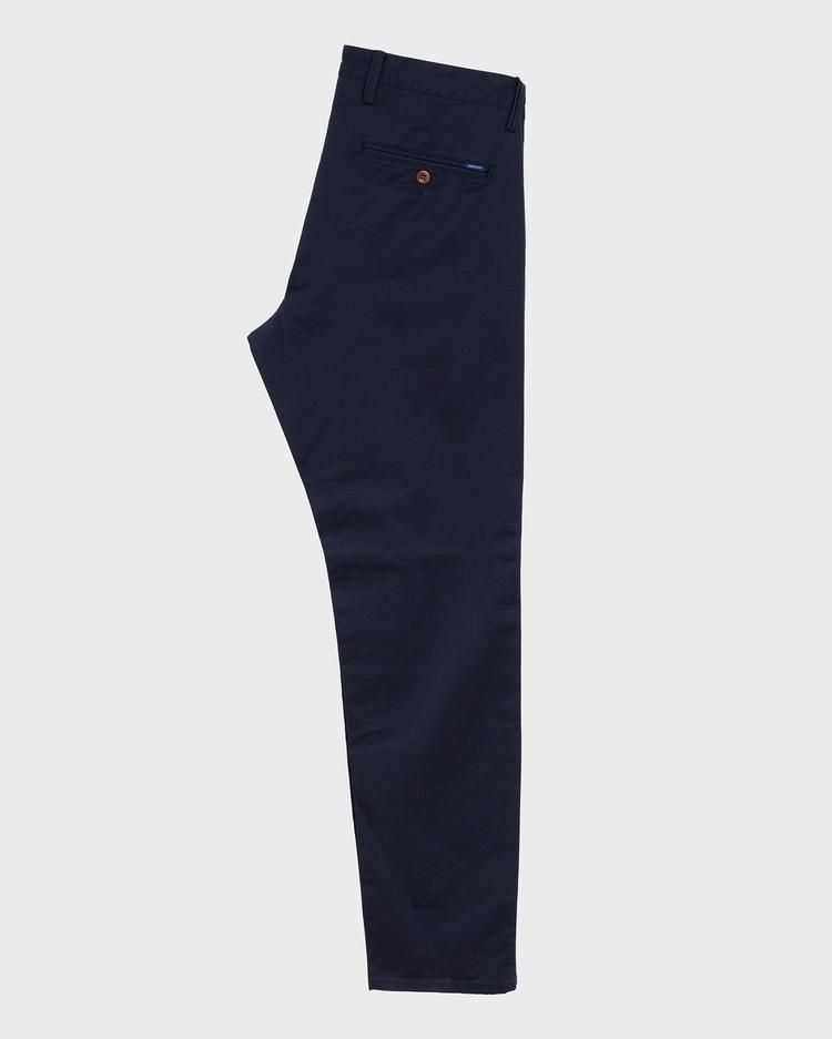 Gant Erkek Twill Chino Lacivert Slim Pantolon