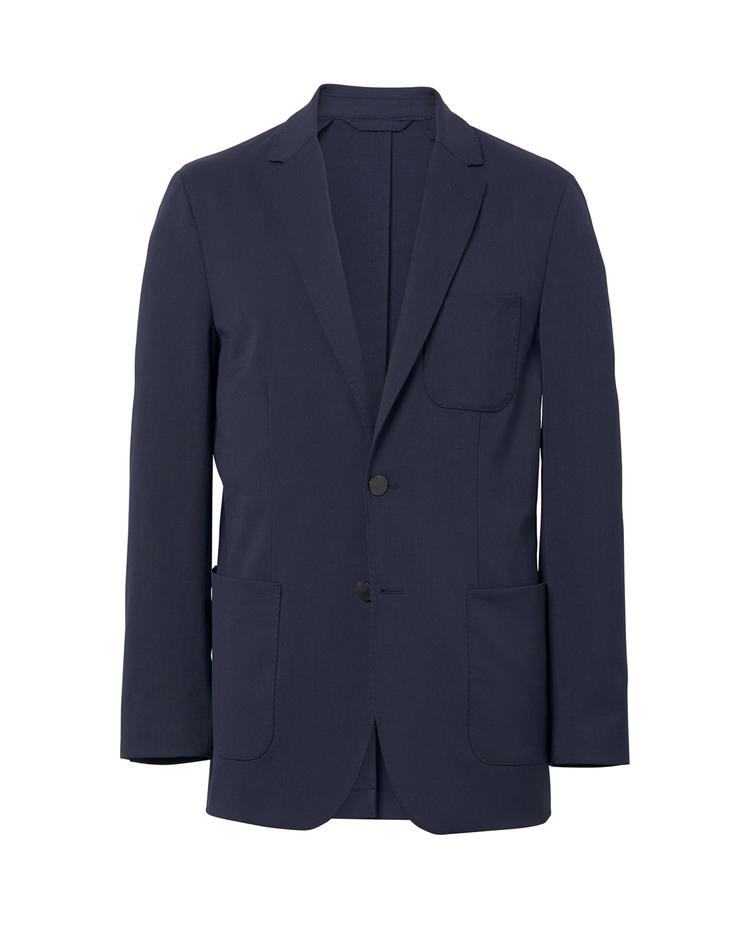 Erkek Lacivert Slim Washable Wool Blazer Ceket