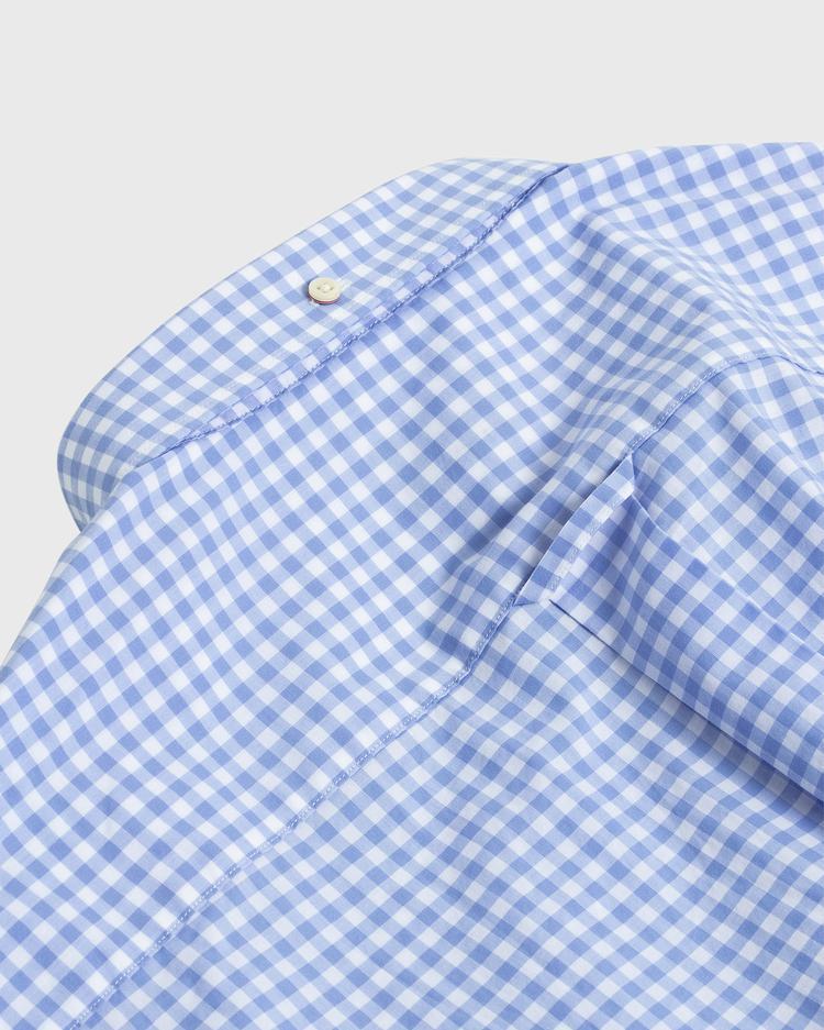 GANT Erkek Açık Mavi Regular Fit Broadcloth Kareli Gömlek