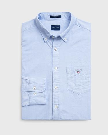 GANT Erkek Açık Mavi Regular Fit Oxford Gömlek