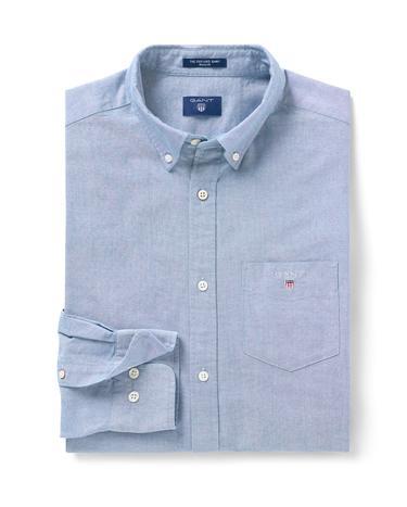 Erkek Mavi Regular Oxford Gömlek