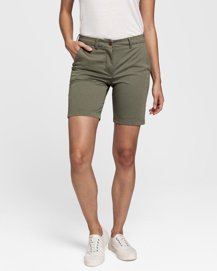 GANT Kadın Yeşil Klasik Chino Şort