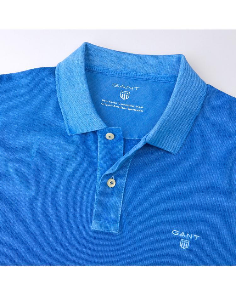 Gant Erkek Vintage Yıkamalı Mavi Regular Pike Polo
