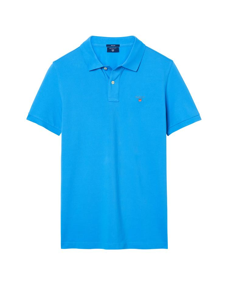 GANT Erkek Mavi Regular Pike Polo