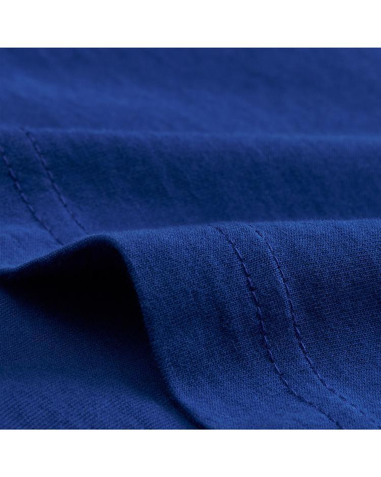 GANT Erkek Mavi Slim Fit V Yaka T-Shirt