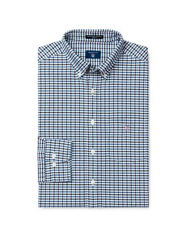 Erkek Lacivert Kareli Regular Oxford Gömlek