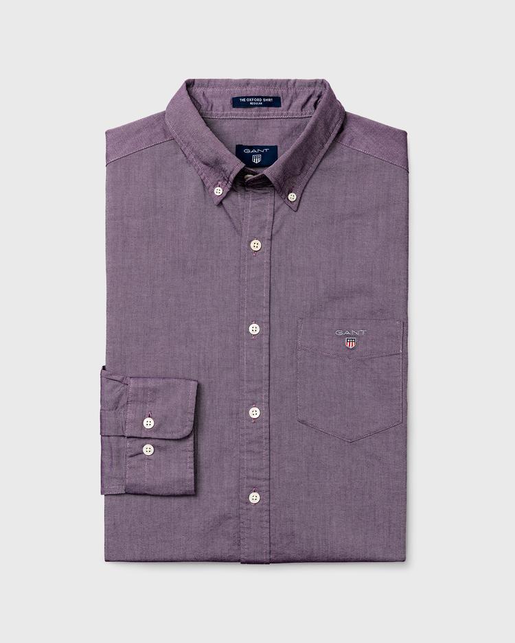 GANT Erkek Regular Oxford Gri Gömlek