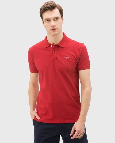 GANT Erkek Kırmızı Slim Fit Polo