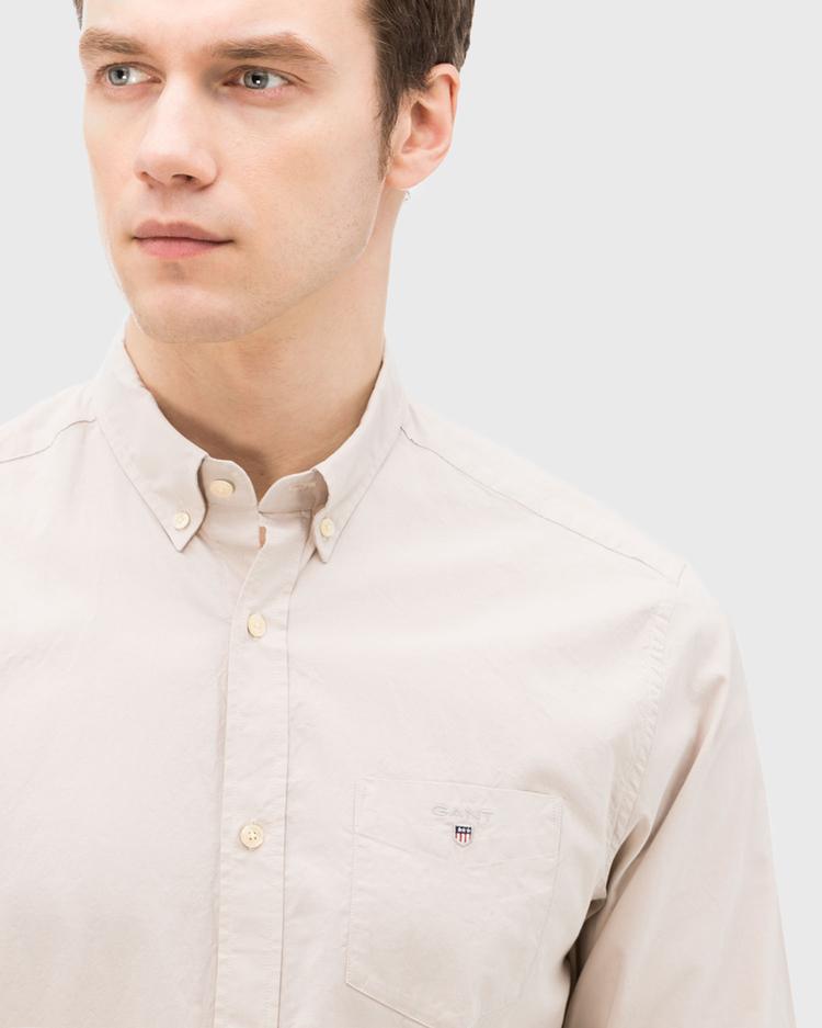 GANT Erkek Bej Regular Gömlek