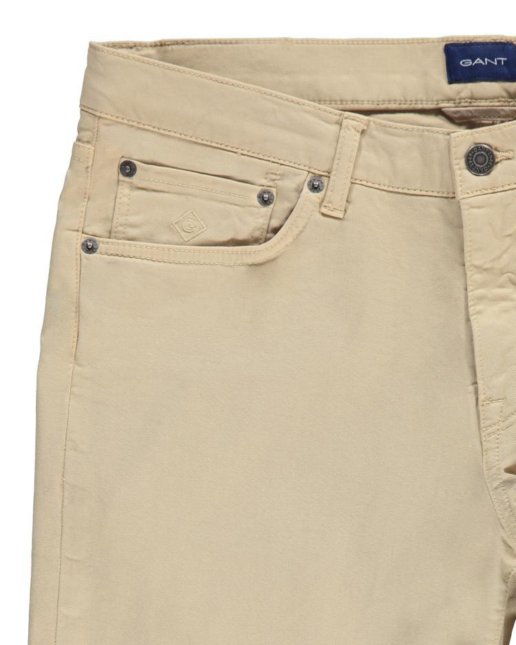 GANT Erkek Haki Slim Fit Denim Pantolon