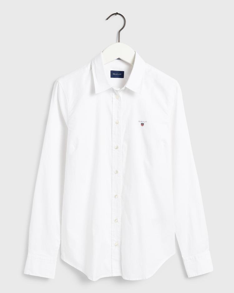 GANT Kadın Beyaz Stretch Oxford Gömlek