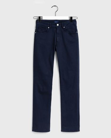 GANT Kadın Lacivert Slim Fit Twill Denim Pantolon