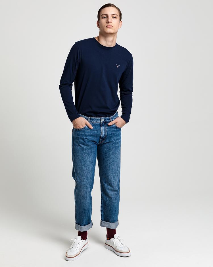 Gant Erkek Lacivert Uzun Kollu Tshirt