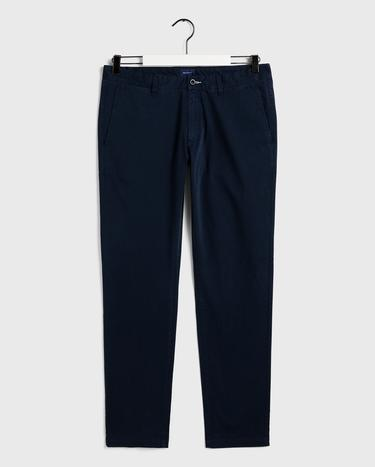 GANT Erkek Lacivert Slim Fit Chino Pantolon
