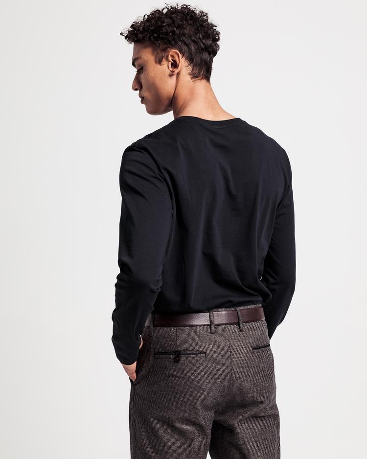 Gant Erkek Siyah Uzun kollu Tshirt