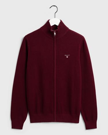 GANT Erkek Bordo Regular Fit Triko Hırka