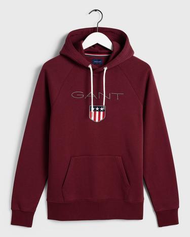 GANT Erkek Bordo Regular Fit Sweatshirt