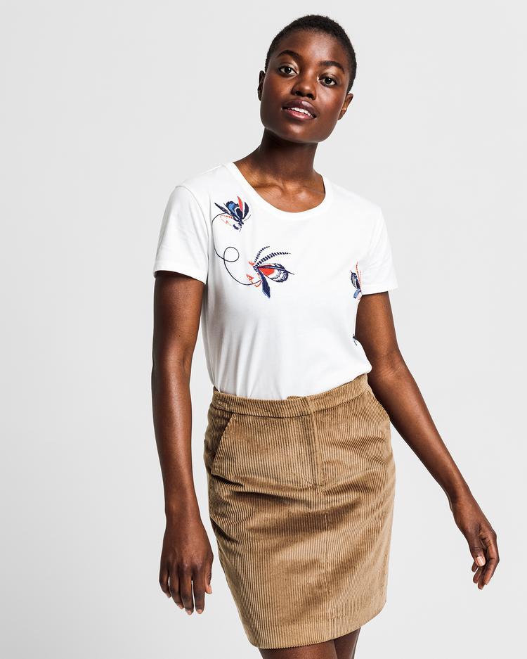 GANT Kadın Krem Relaxed Fit T-Shirt