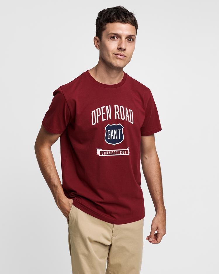 GANT Erkek Bordo T-Shirt