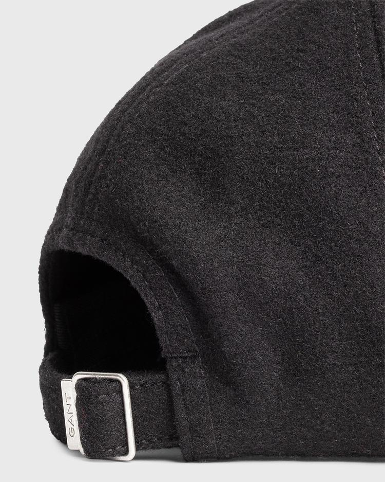 Unisex Siyah Melton Şapka