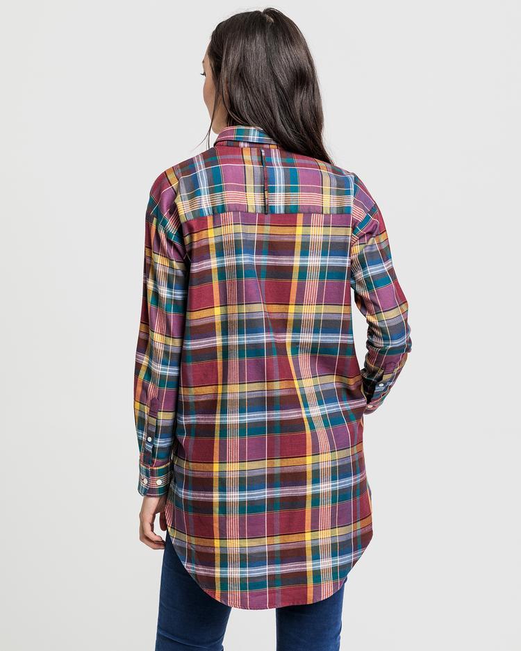 GANT Kadın Bordo Relaxed Fit Gömlek