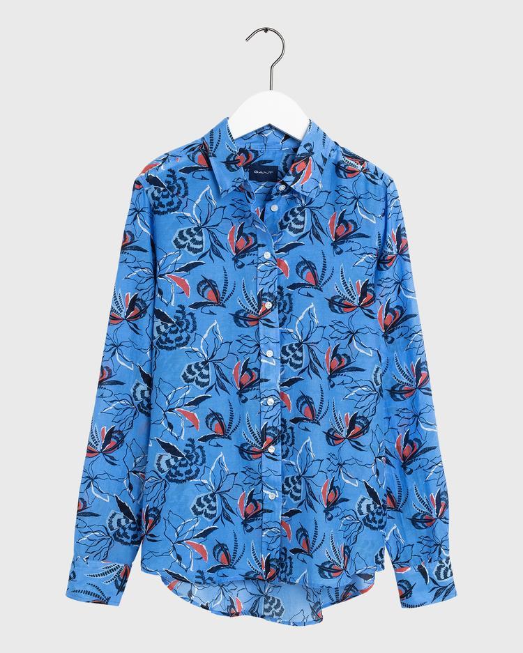 GANT Kadın Mavi Regular Fit Gömlek