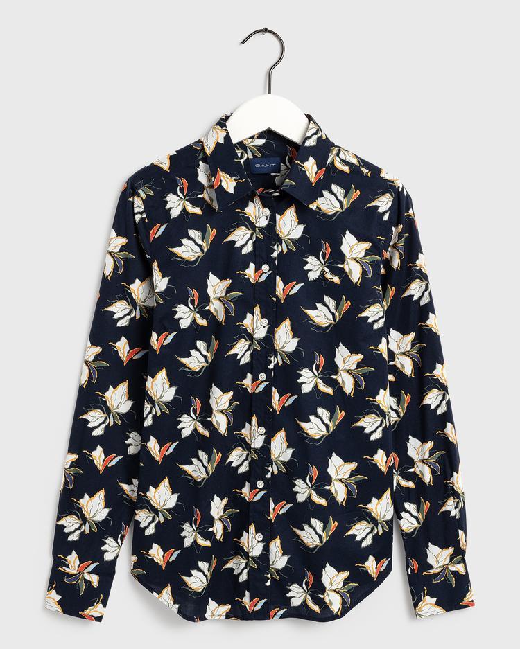 GANT Kadın Lacivert Regular Fit Gömlek