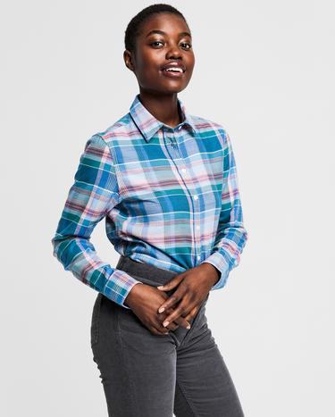 GANT Kadın Mavi Relaxed Fit Gömlek