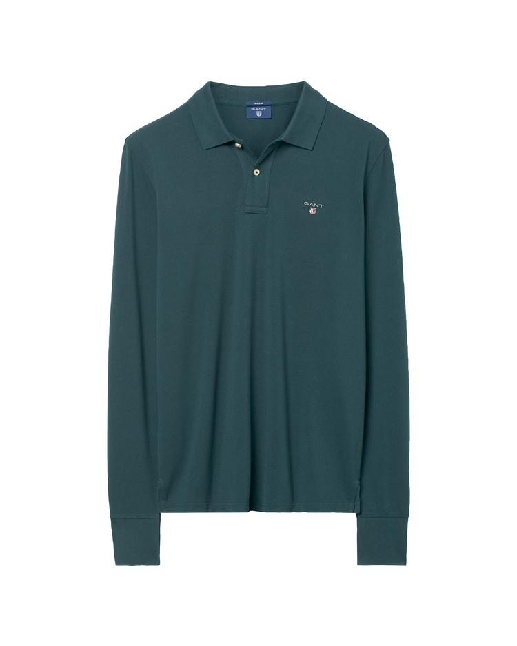 Erkek Yeşil The Original Pique Long Sleeve Polo