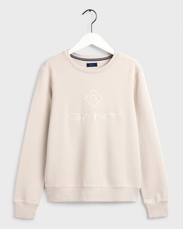 GANT Kadın Krem Relaxed Fit Sweatshirt