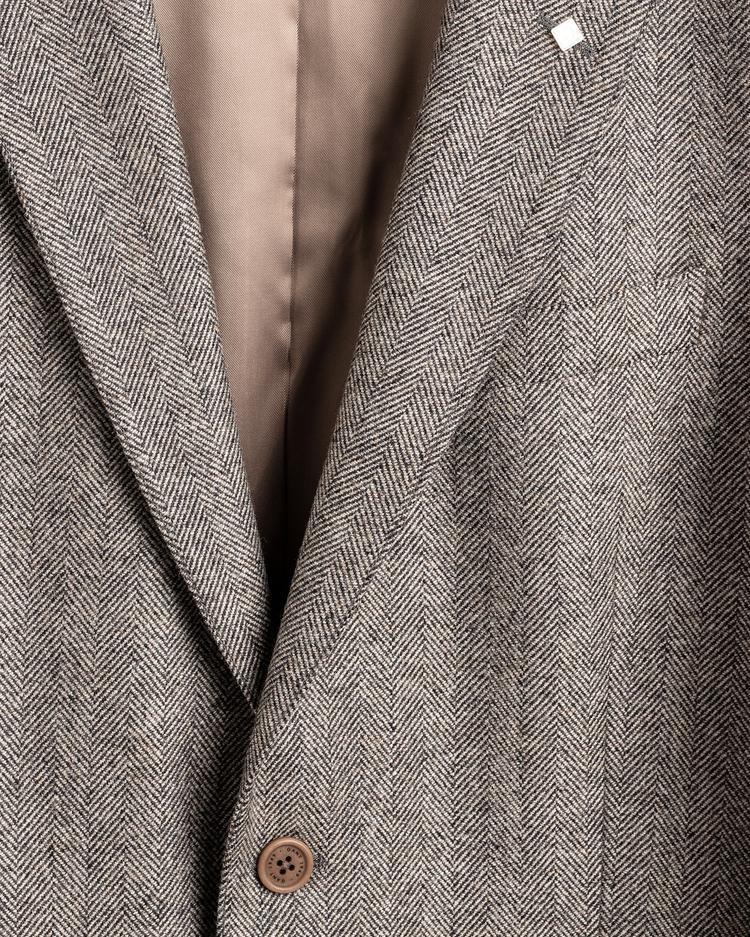GANT Erkek Bej Slim Fit Yünlü Blazer Ceket
