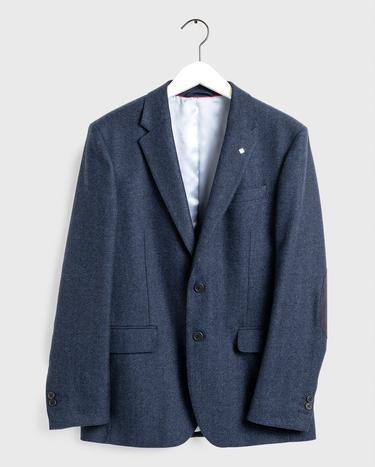 GANT Erkek Lacivert Slim Fit Yünlü Blazer Ceket