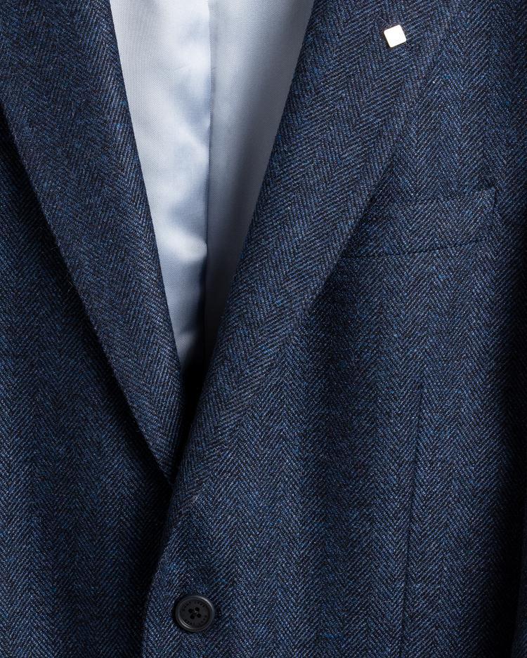 GANT Erkek Lacivert Slim Fit Yünlü Ceket