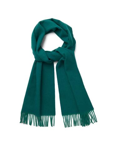 Unisex Yeşil Oxford Weave Scarf Atkı