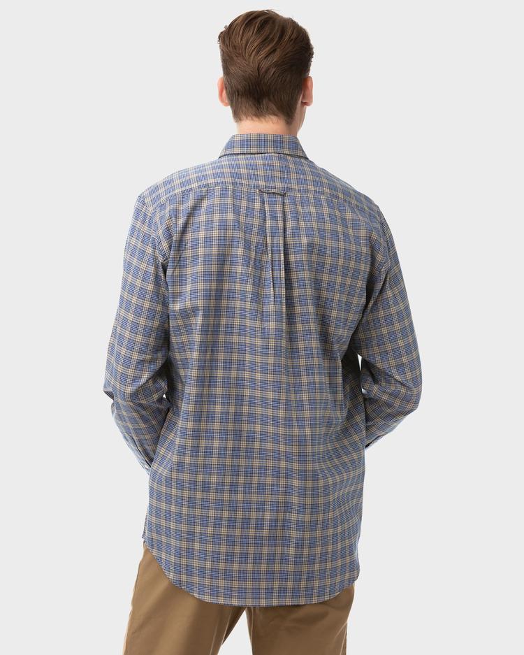 GANT Erkek Lacivert Kareli Gömlek