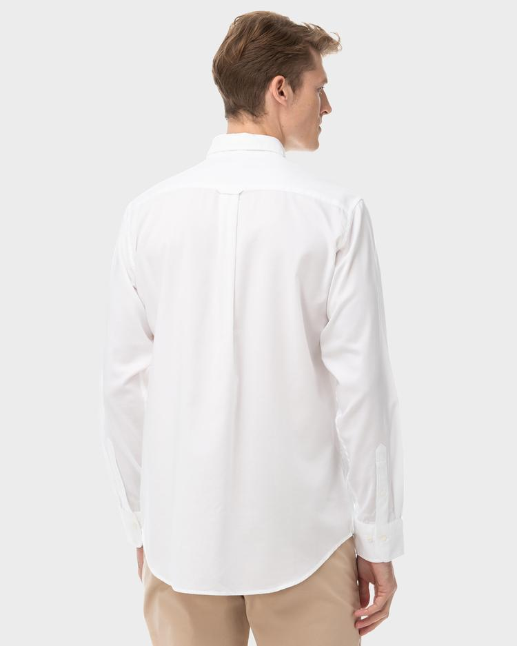 Erkek Tech Prep Beyaz Regular Oxford Gömlek