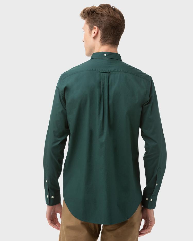 Gant Erkek Yeşil Regular Fit Twill Gömlek