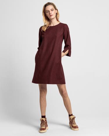 GANT Kadın Bordo Yünlü Elbise