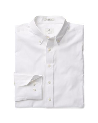 GANT Erkek Beyaz Fitted Gömlek