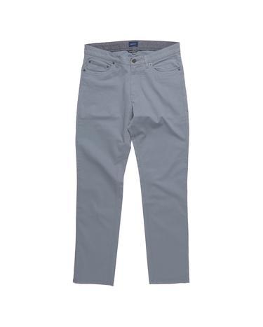 Erkek Twill Gri Slim Pantolon