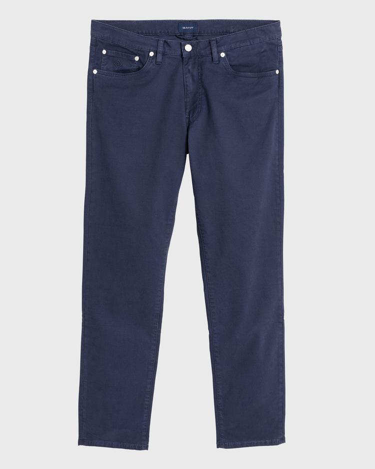 GANT Erkek Lacivert Slim Fit Denim Pantolon