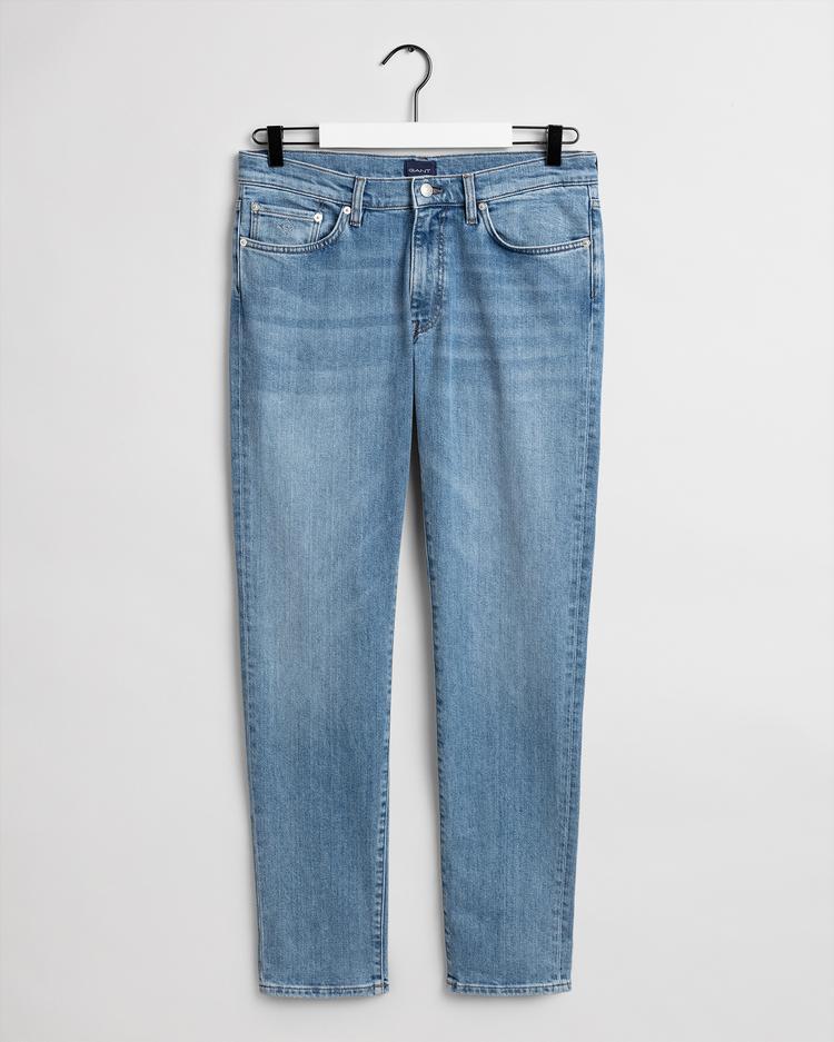 GANT Erkek Mavi Slim Fit Jean Pantolon
