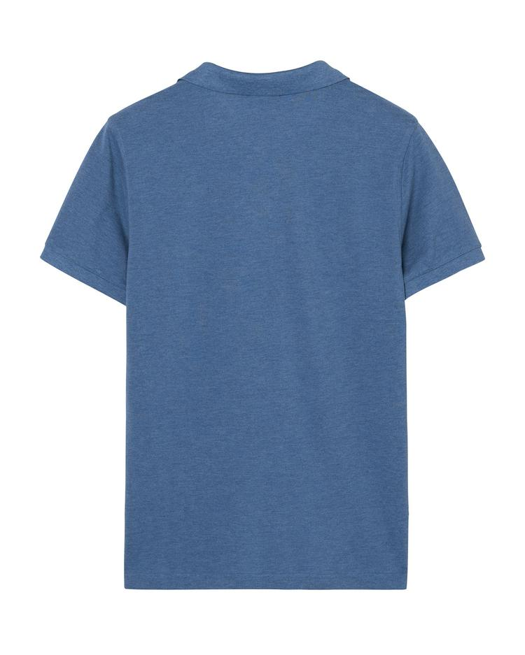 GANT Erkek Mavi Regular Fit Polo