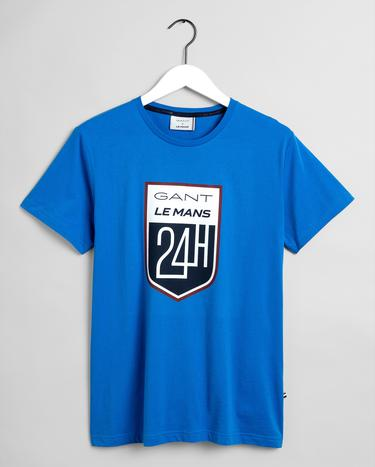 GANT x LE MANS Erkek Mavi Regular Fit T-Shirt