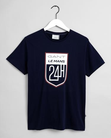 GANT x LE MANS Erkek Lacivert Regular Fit T-Shirt