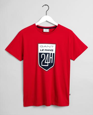 GANT x LE MANS Erkek Kırmızı Regular Fit T-Shirt