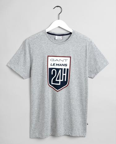 GANT x LE MANS Erkek Gri Regular Fit T-Shirt
